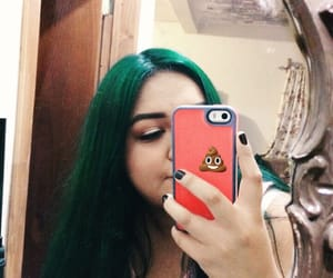 green, hair, and colorhair image