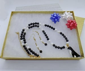 beaded necklace, jewelry set, and gemstone necklace image