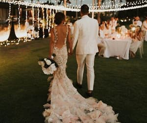 couple, dress, and married image
