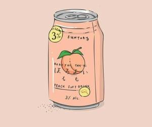 aesthetic, peach, and soda image
