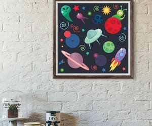 etsy, space poster, and spaceprint image