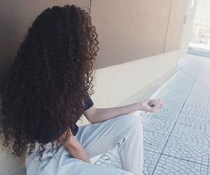 curly, curly hair, and style image