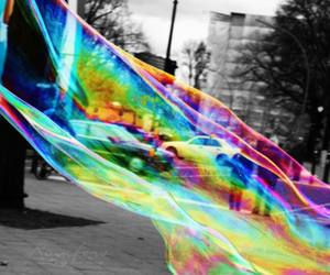 bubbles, color, and rainbow image