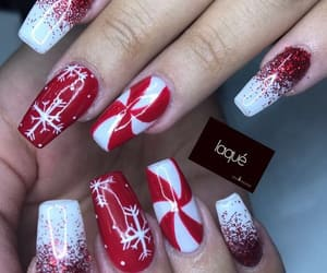 beauty, nails, and christmasnails image