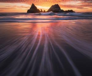 beach, california, and sand image