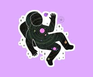 galaxy, purple, and random image