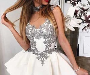 white prom dresses, homecoming dress a-line, and custom made prom dresses image