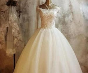 ball gown, lace, and bridal dresses image