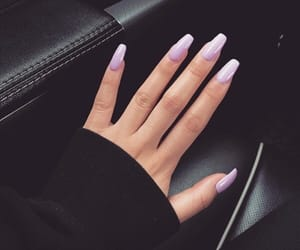 glam, nails, and purple image