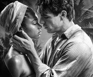 black and white, interracial, and bwwm image