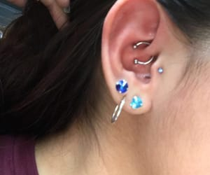 earrings, tragus, and peircing image