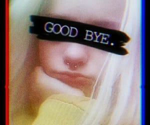 good bye, piercing, and sad image