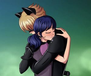 Chat Noir, miraculous ladybug, and marichat image