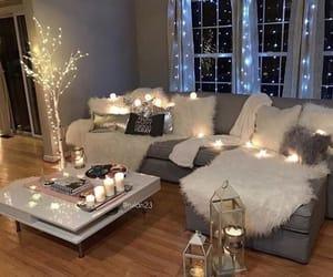 home, light, and decor image