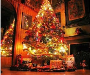 christmas, christmas tree, and lights image