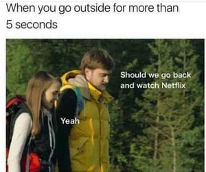 netflix, funny, and meme image