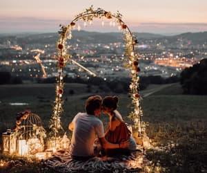 beautiful, couple, and cuddling image