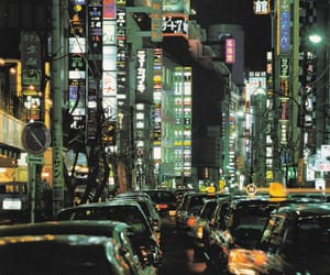 city, lights, and asia image