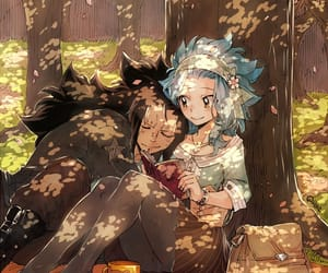 levy, gajeel, and galevy image