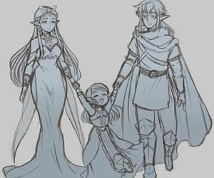 couple, fanart, and link image