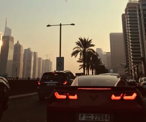 Corvette, Dubai, and sunset image