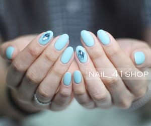 baby blue, korean nails, and lovely image
