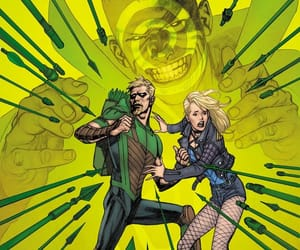 Black Canary, dc comics, and green arrow image