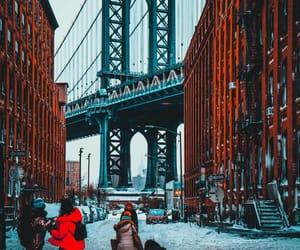 boy, brooklyn bridge, and dreamy image