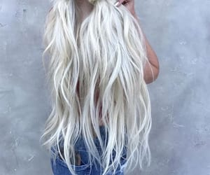 blonde, hair, and ombre hair image