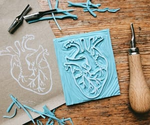 anatomical heart, etsy, and rubber stamp image