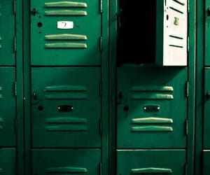 green, aesthetic, and locker image