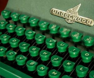aesthetic, green, and typewriter image