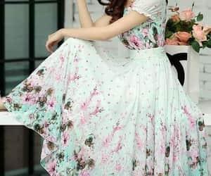 belleza, dress, and moda image