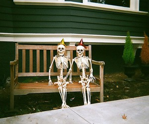 skeleton, vintage, and indie image