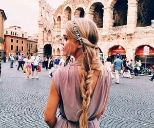 blonde, braid, and dress image