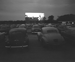 car, black and white, and cinema image