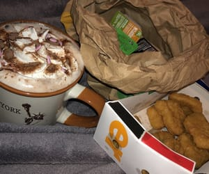 McDonald's, nuggets, and hot chocolate image