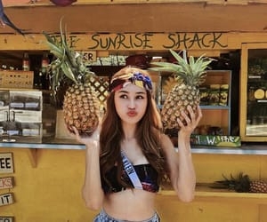 asian, beauty, and pineapple image
