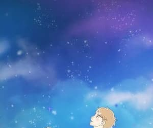 awwwww, holding hands, and starry sky image