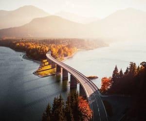 bridge, mountains, and nature image