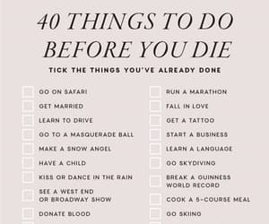 list, bucket list, and before you die image