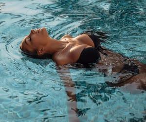 bikini, tan, and tanned image