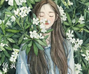 anime girl and drawing image