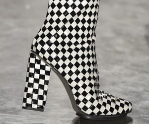 checkered, fashion, and heels image