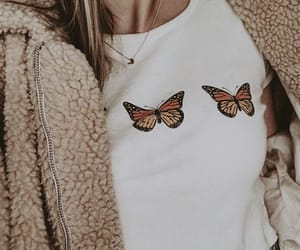 butterfly, fall, and fashion image