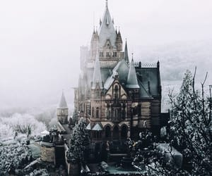 castle, cold, and snow image