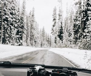 snow, winter, and camera image