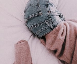 blush, jeans, and pink image