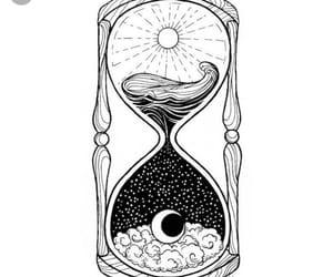 art, moon, and tattoo image