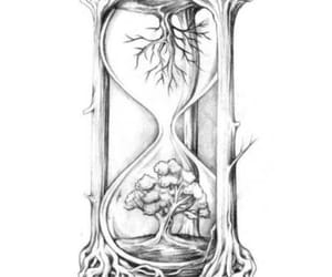 hourglass, inked, and ink image